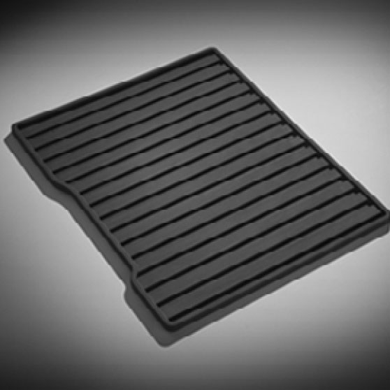 Tapete de vinil de paso\segunda fila sin logo (1 pieza) negro