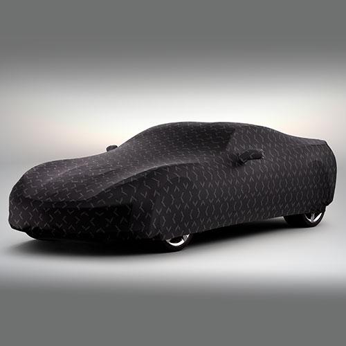 Cubierta de vehículo con logo Stingray negro. Uso exterior