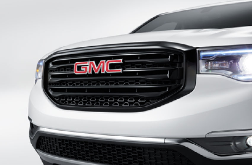 Parilla color negro con logo GMC