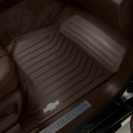 Tapetes de vinil delanteros con logo Chevrolet - Cocoa