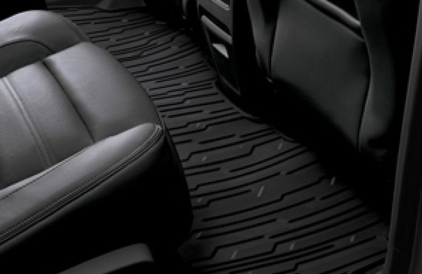 Tapetes de vinil de segunda fila\ color negro