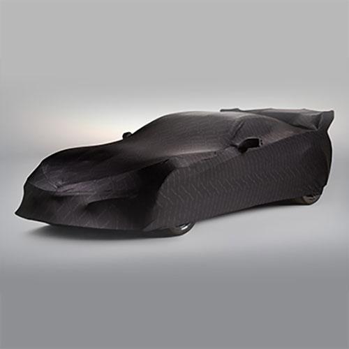 Cubierta de vehículo color negro con logo ZR1. Para uso interior