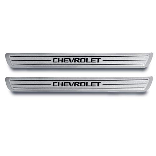 Protector de solera en aluminio con logo Chevrolet
